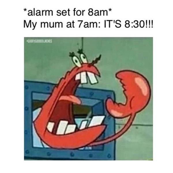 Funny Spongebob alarm set