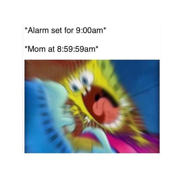 Funny Spongebob meme alarm