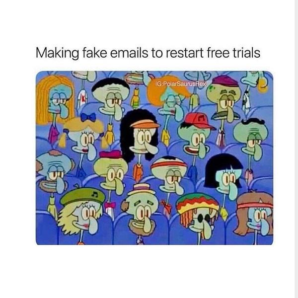 Funny Spongebob meme fake emails
