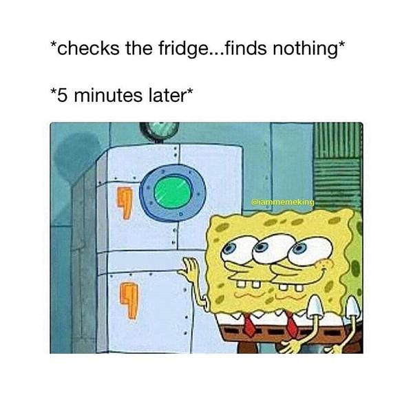 Funny Spongebob meme fridge
