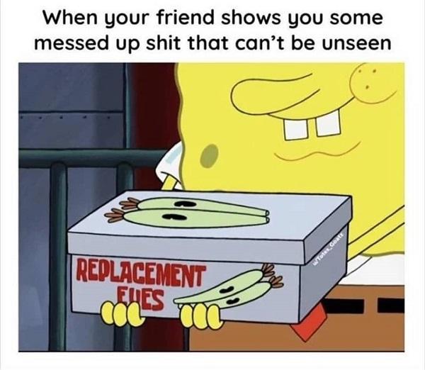 Funny Spongebob meme friend