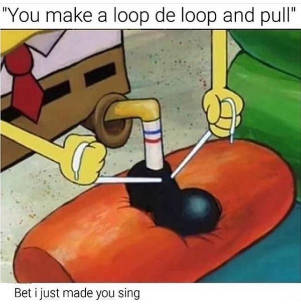 Funny Spongebob meme loop