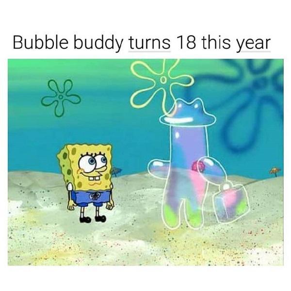Funny Spongebob meme turning 18