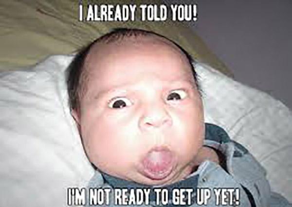 funny good morning baby meme