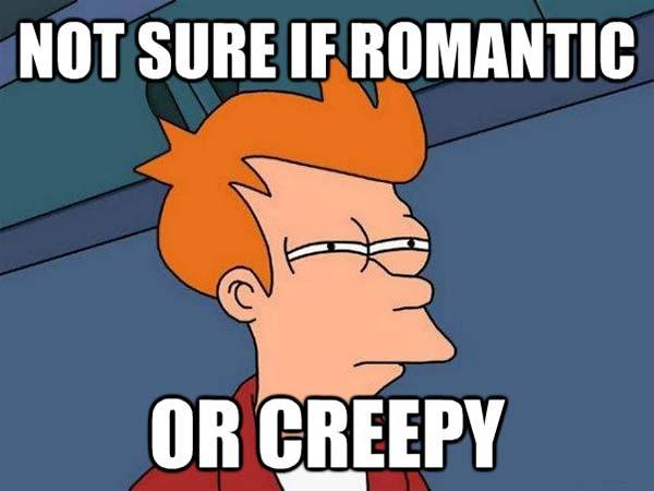 futurama romantic memes or creepy