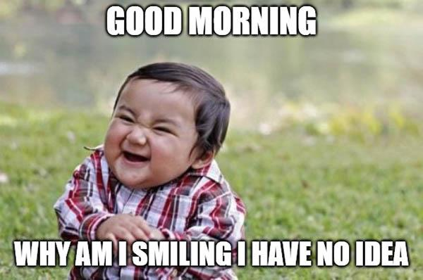 good morning baby meme funny