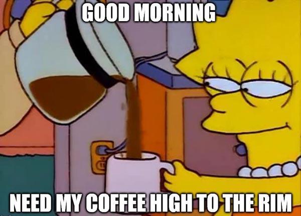 good morning coffee meme