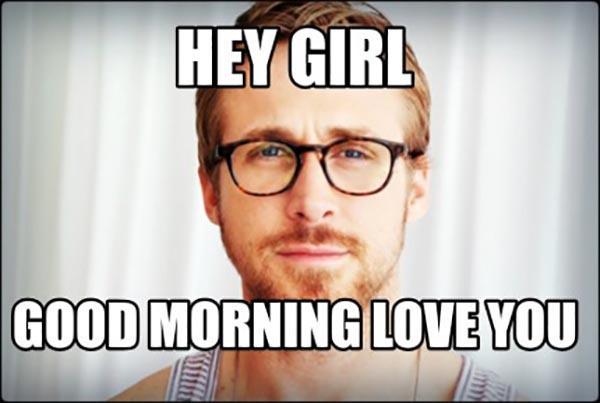 good morning love meme