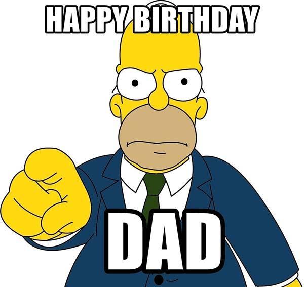 happy birthday dad meme simpson
