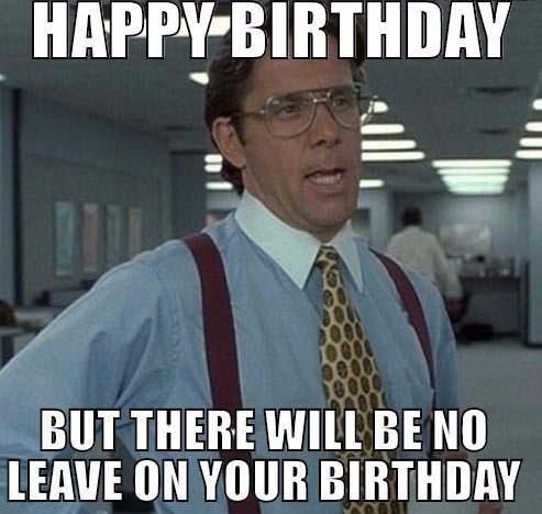 happy birthday meme coworker the oofice