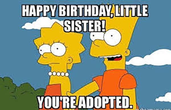 happy birthday meme for kids simpson