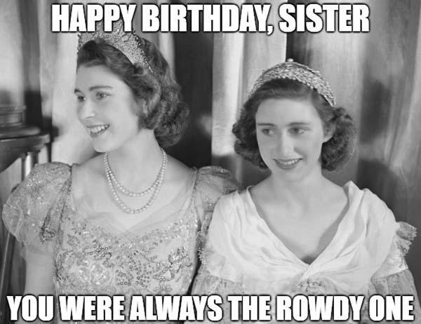 happy birthday meme sister calssic