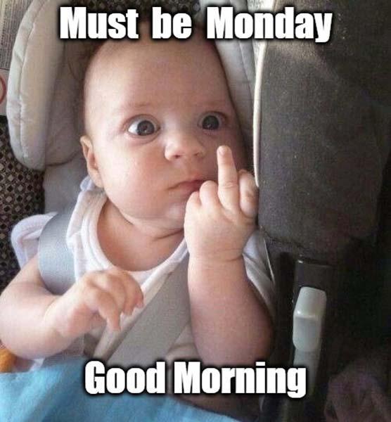 hilarious good morning baby meme