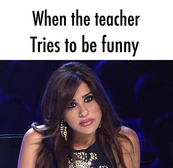 when your teacher try to be funny