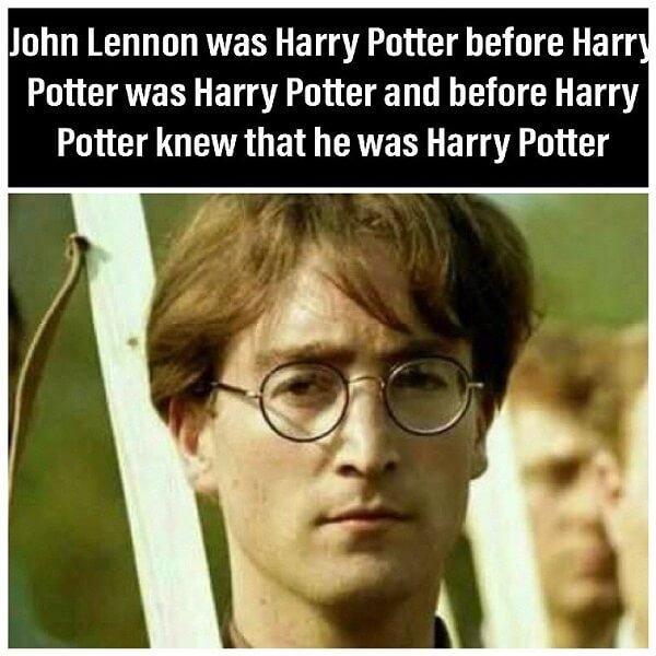 Harry Potter memes John Lennon was Harry Potter