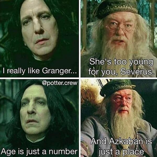 Harry Potter memes age is just a number