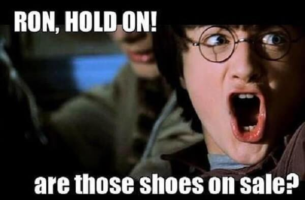 Harry Potter memes are those shoes on sale