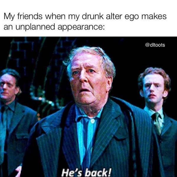 Harry Potter memes drunk alter ego
