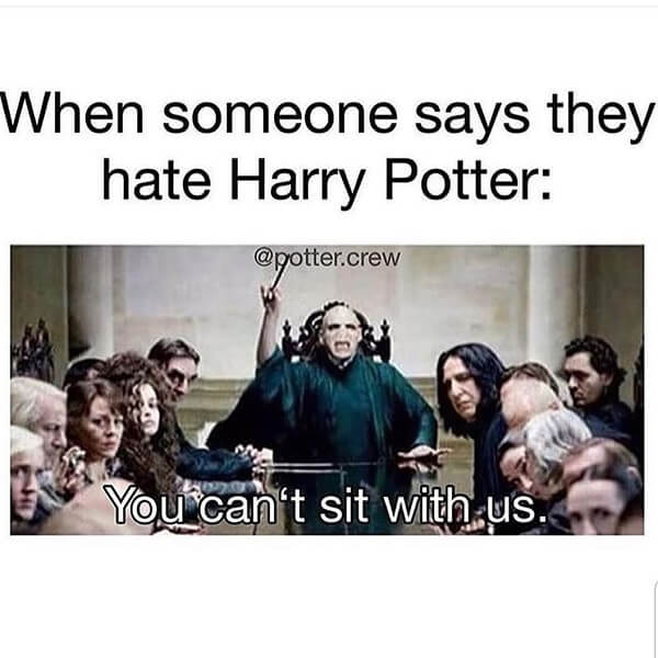 Harry Potter memes you can't sit with us