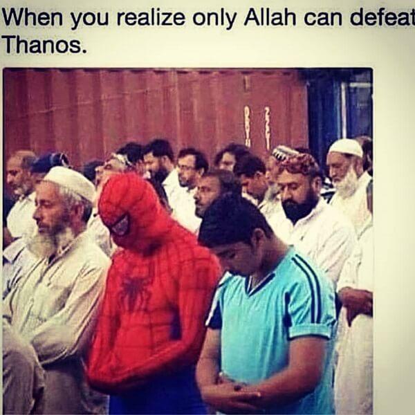 Spider Man Meme allah can defeat thanos