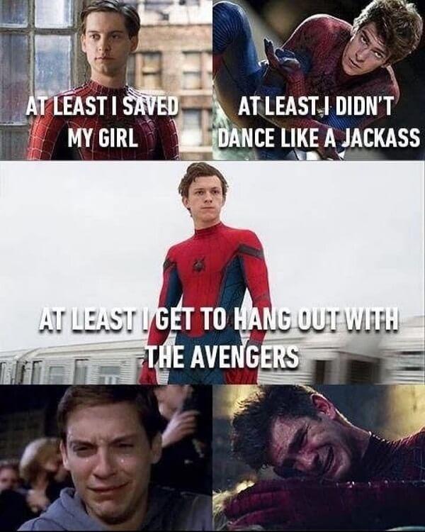 Spider Man Meme at least