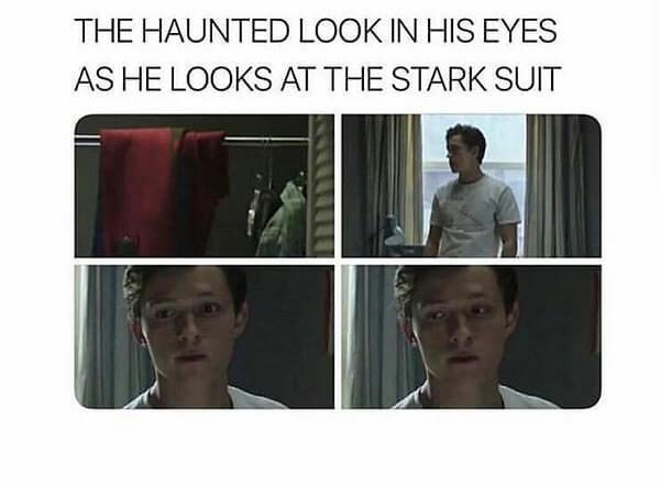 Spider Man Meme haunted looks