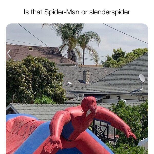 Spider Man Meme or slenderspider