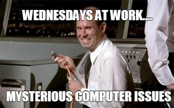 Wednesday Work Meme funny
