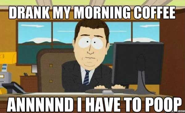 drank my morning coffee memes