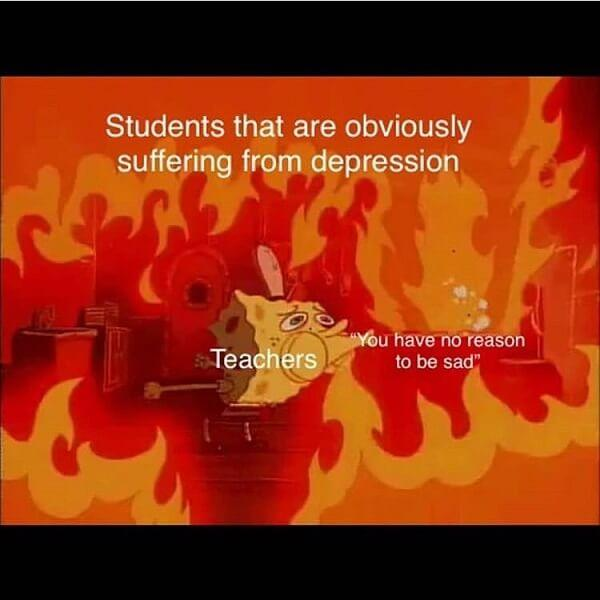 edgy spongebob memes students that are obviously