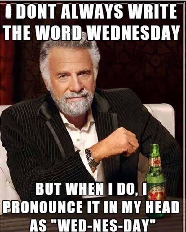 i dont write the word wednesday...