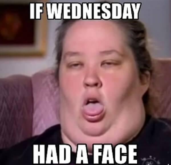 if wednesday have a face