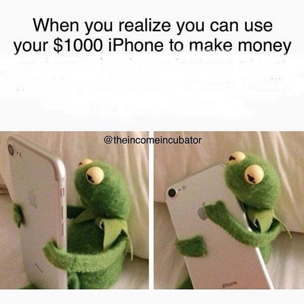 kermit meme 1000 dollars iphone