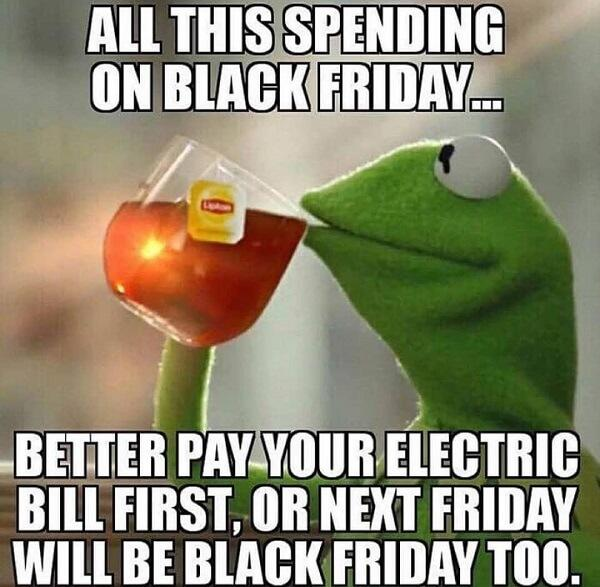 kermit the frog tea meme black friday