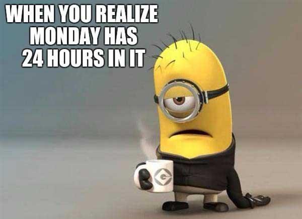 monday coffee meme miniion