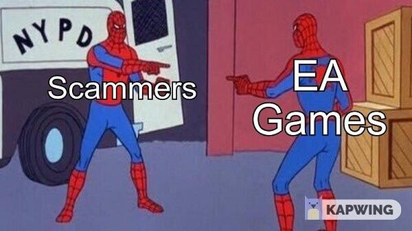 spiderman pointing meme ea games