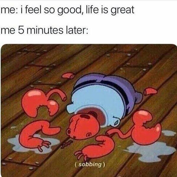spongebob crying meme