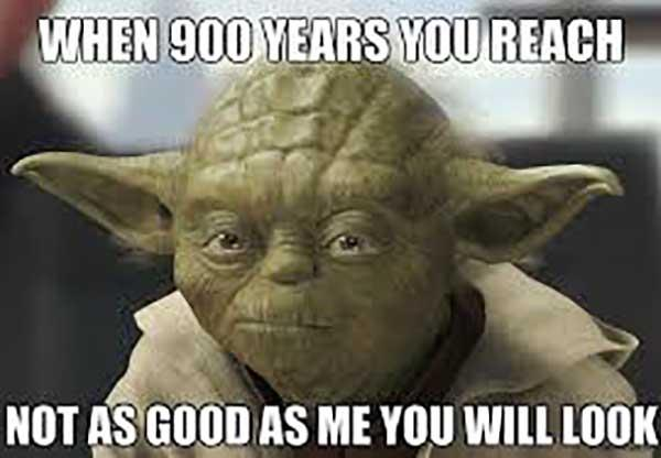 star wars birthday meme 900 years