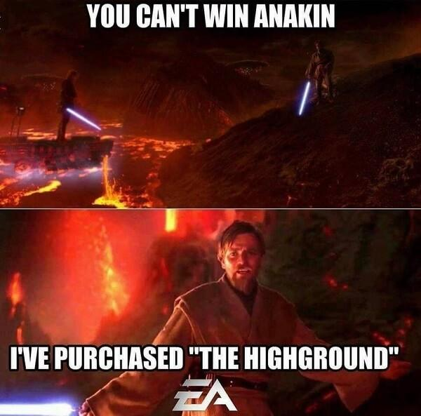 star wars meme EA