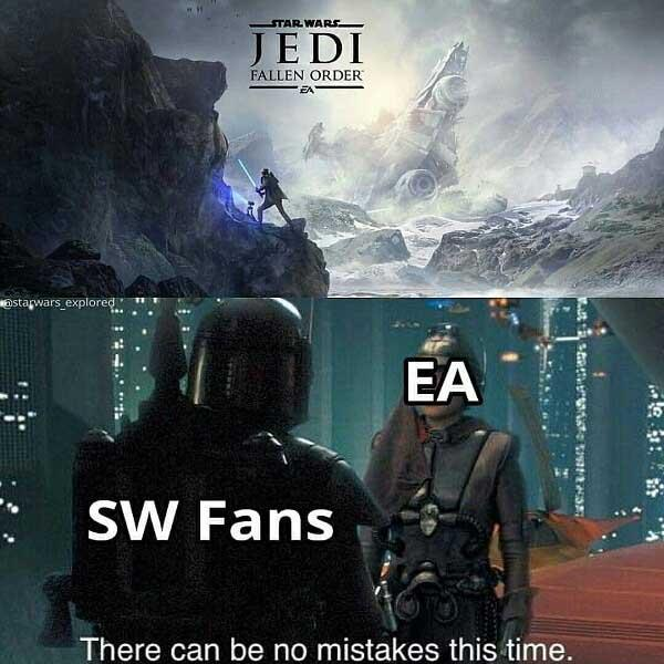star wars meme ea vs sw fans