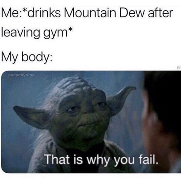 star wars meme gym