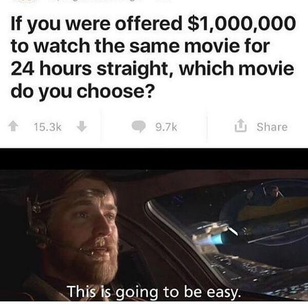 stars wars meme if you were offered 1 000 000