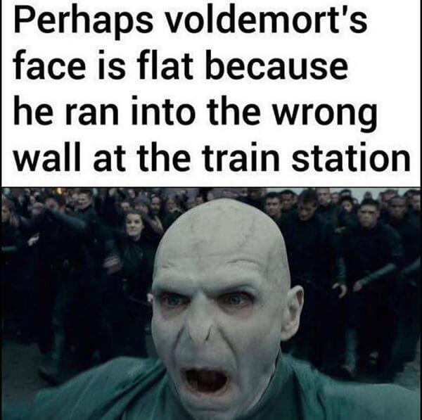 voldemort memes ran into the wrong wall