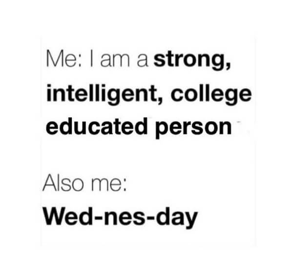 wednesday meme college educated person