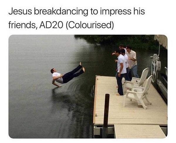 Funny Jesus Meme breaking