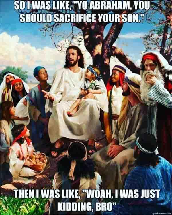 Jesus meme abraham
