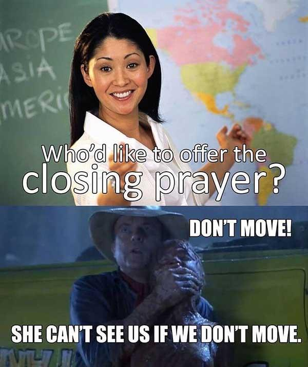 christian meme closing prayer
