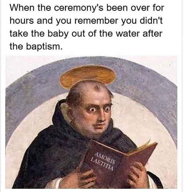 christian meme when ceremony's been over for hours...