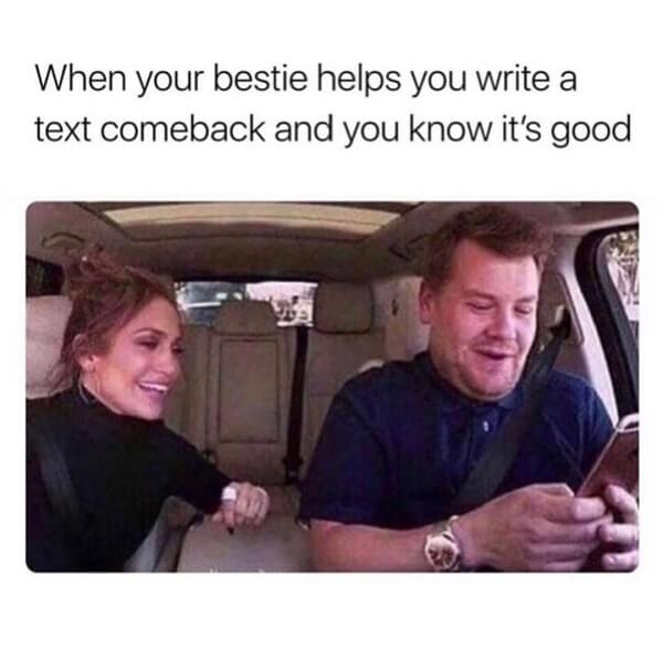 clean memes when your bestie helps you...