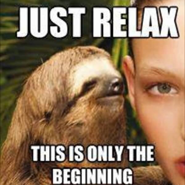 creepy sloth meme